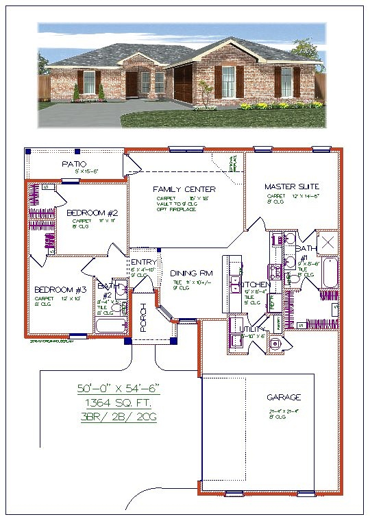 Brick for House plans with laundry room attached to master bedroom